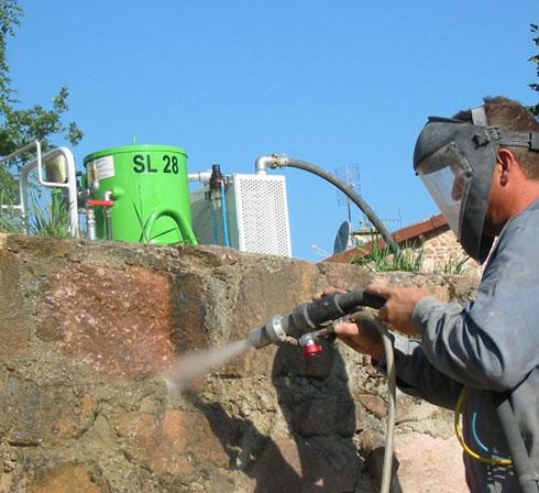 hydrogommeuse SL28 ACF nettoyage mur